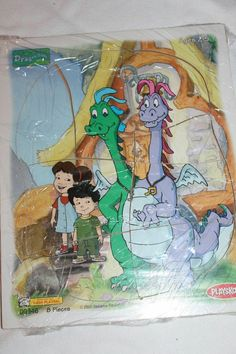 "Playskool ""Dragon Tales"" wooden puzzle - Max, Emmy, Zak and Wheezie Wooden Puzzles, Jigsaw Puzzles, Dragon Tales, I Have A Secret, Puzzle Pieces, Playroom, Childhood, Fantasy, Gummy Bears"
