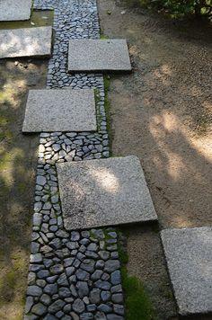 Japanese garden paving detail Noel's Garden Blog