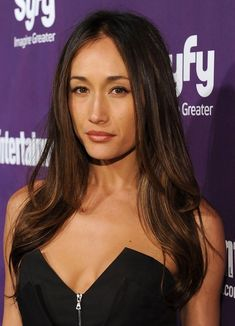 Maggie Q Long Hairstyles: I'm loving the color, saving this photo for when I have to dye my hair...