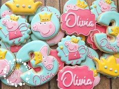 "204 Likes, 2 Comments - Casey CaseBakes LLC (@case_bakes) on Instagram: ""Peppa Pig Fairy#casebakes #clearlaketx #clearlakecity #clearlakecookies #leaguecity #friendswood…"""