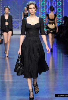 Dolce & Gabbana vestidos de fiesta 2012