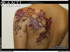 Orchid tattoo- ANTI = ART DEALER + TATTOO