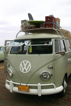 VW Camper Van, Pismo Beach, California, via Flickr.