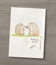 These sweet little hedgehog friends can be found in the Love You Lots host set from #stampinup. Contact your Demonstrator today to learn how you can earn this set!