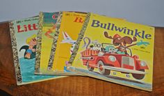 Four 'A Little Golden Book' Books Vintage by Collectitorium Little Golden Books, Vintage Books, Childrens Books, Handmade, Stuff To Buy, Old Books, Hand Made, Children Story Book, Craft