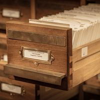 Pinyin Card Catalogue: Drawer Two