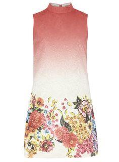 13727d4e115 Chi Chi Floral high neck shift dress