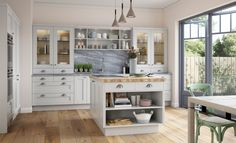 & & & & 94 design of kitchen in white and gray Grey Kitchen Designs, Cuisines Design, Design Moderne, Traditional Kitchen, Kitchen Decor, Kitchen Cabinets, Beige, Gray, Home Decor