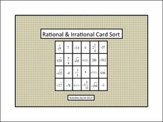 Printables Worksheets On Rational And Irrational Numbers this site defines all number sets rational numbers irrational use handy foldable and card sort for teaching students about real notes examples natural whole number