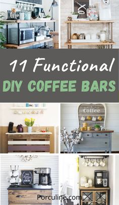 From modern coffee bar tables, rustic coffee stations, bar carts to industrialists, you will find DIY coffee bar station ideas that suit your need and decor! #DIYcoffeebar #coffeebarideas #coffeebar #coffeestation Coffee Bar Station, Coffee Stations, Bar Tables, Bar Carts, Diy Home Decor, Diy Projects, Suit, Rustic, Modern