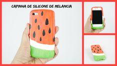 Como fazer uma capinha de celular de silicone - Melancia