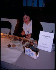 Anita Fields (Osage), circa 2000. Clay demonstration at the Heard Museum, Phoenix, Arizona [RC62(F534):1.1]