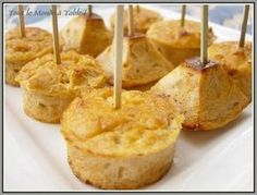 tuna bites for an aperitif - Everyone at the table! Tapas, Appetizer Buffet, Appetizer Recipes, Pumpkin Pie Recipes, Cake Recipes, Buffets, Muy Simple, Savoury Baking, Finger Food Appetizers