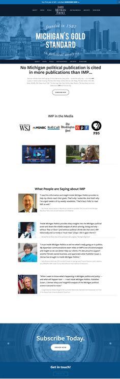 Check out the website we designed for Inside Michigan Politics (IMP), a popular Michigan political publication!