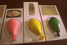 Ballon sensoriel Avec Les Cartes ASSORTIES. idéal coulée Enseigner aux Enfants d'âge préscolaire 5 Sens ous fr gardant Les Mains bambin Occupé ...