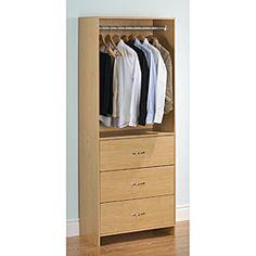 Akadahome 3-drawer Wardrobe Closet Tower