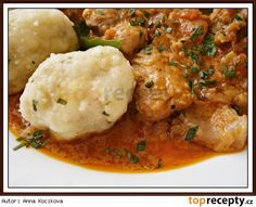 Krupicové noky (bez mléka) Czech Recipes, Ethnic Recipes, Dumplings, Gnocchi, Bon Appetit, Mashed Potatoes, Side Dishes, Curry, Menu