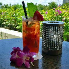 'Tropical Wave' crafted with fresh Strawberries, Basil, and Lemon with Lemon-Lime soda. Simply the best on a hot summer day. #TrumpWaikiki #Waiolu #Waikiki #Hawaii #Luxury #Vacation #Refresh #Hydration #Strawberries #Basil #Drink  Trump International Hotel Waikiki Beach Walk - Google+