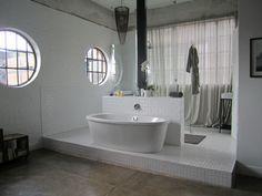 Maboneng Precinct :: Revolution House - Progressive Urban Space :: Penthouse :: 21 Kruger Street, Johannesburg. Revolution, Two By Two, Loft, Urban, Spaces, Bathroom, Street, Building, House