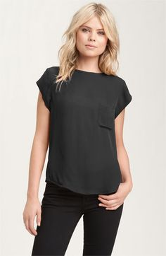 Joie 'Rancher' Silk Pocket Top available at #Nordstrom