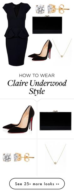 """Inspired by Claire Underwood ➡️ House of Cards"" by iamtheprototype on Polyvore"