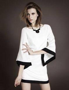 vestido branco preto - Pesquisa Google