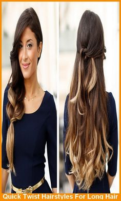 Quick Twist Hairstyles For Long Hair