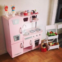 pink vintage kitchen kidkraft playkitchen toys - Kidkraft Vintage Kitchen