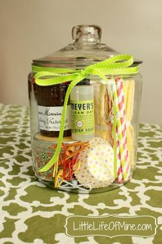 Gifts in a jar ... Birthday, Christmas, Housewarming gifts etc #creative handmade gifts #handmade gifts #hand made gifts