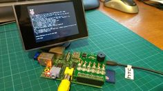 There are plenty of small screens available that accept a composite video input. Perfect for hooking up to the Raspberry Pi's video output.