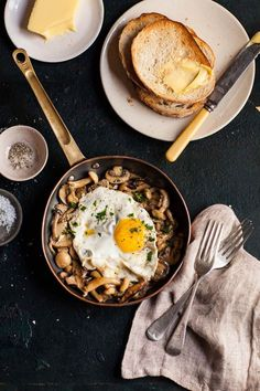 intensefoodcravings:  Creamy Miso Mushrooms and Eggs | Drizzle...
