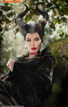A vision: Disney beginners may not recall that Maleficent is the evil fairy in the classic 1959 animation Sleeping Beauty, and that Angelina played her in a 2014 live-action film Watch Maleficent, Maleficent Quotes, Maleficent 2014, Maleficent Costume, Maleficent Makeup, Young Maleficent, Maleficent Wings, Maleficent Tattoo, Halloween Hair
