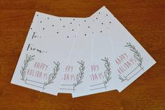 Handmade Holiday Gift Tags on Etsy, $15.00