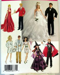 "Simplicity 4754 11½"" Fashion Doll Wardrobe Pattern | eBay"