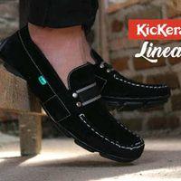 Kickers Linea Slip On Suede Sepatu Sandal Slop Pria Murah Sepatu Formal Pria Sepatu Pria Tanpa Tali Sepatu Boat