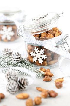 Christmas Jars, Christmas Snacks, Scandinavian Christmas, Christmas Baking, Easy Handmade Gifts, Diy Gifts, Food Gifts, Yule, Special Gifts