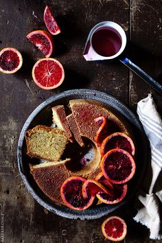 Blood Orange Pound Cake from Bakers Royale. I love using citrus in cakes, and I love blood orange, so my love for this recipe is inevitable Orange Recipes, Sweet Recipes, Just Desserts, Dessert Recipes, Blood Orange, Pound Cake, Eat Cake, Cupcake Cakes, Bundt Cakes