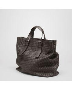 Bottega Veneta Brown Tote Bag In Moro Intrecciato Calf for Men