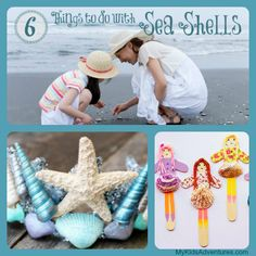 Want to make summer beach memories last all year? Bring home some seashells and make seashell crafts with your kids. 6 kid-friendly beach crafts included.