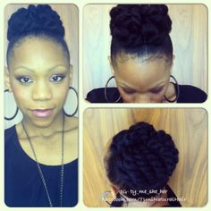 Black Girl with Long Hair | Tynisha - Another Protective Updo