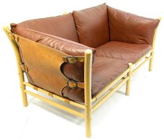 """1970s 2-seater """"Ilona"""" sofa by Arne Norell 