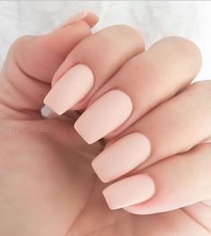 Nail art is a very popular trend these days and every woman you meet seems to have beautiful nails. It used to be that women would just go get a manicure or pedicure to get their nails trimmed and shaped with just a few coats of plain nail polish. Best Acrylic Nails, Matte Nails, Nude Nails, Coffin Nails, Black Nails, Blue Nail, Neutral Acrylic Nails, Plain Acrylic Nails, Baby Pink Nails Acrylic