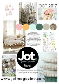 Our October 2017 Mood Board | Jot Magazine -- curated by Mardi Winen
