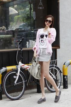 Nice suit for holiday. Shorts and shirt Korean Girl Fashion, Japanese Fashion, Asian Fashion, Korean Style, Cool Suits, Passion For Fashion, Style Me, Chinese, Comfy