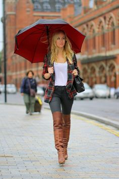 Thigh High Brown Boots