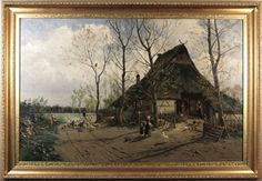 Antique Oil Painting C. Malchin 1875 from carlislefineart on Ruby Lane