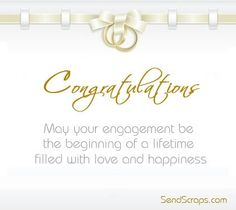 Congratulations on ur engagement