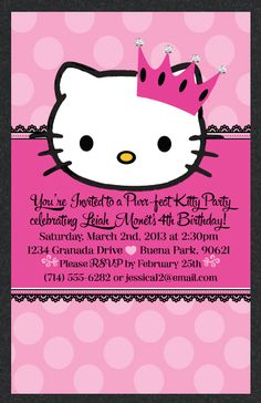 Hello kitty birthday invitations by delight invite are the perfect hello kitty princess birthday invitation filmwisefo Image collections