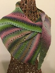 """My Friend Nancy"" - This wrap starts with just a few stitches and grows until it is as large as you like or you run out of yarn."
