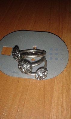 3x stříbrné prstýnky velikost M